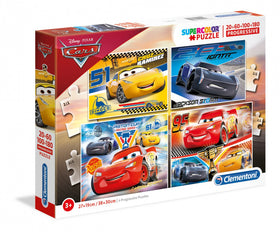 Disney Cars 3 4-in-1 Puzzle -  20, 60, 100, 180 stukjes