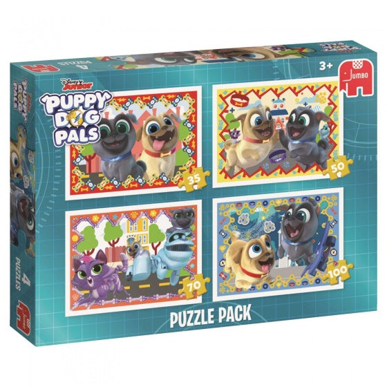 Puzzel Puppy Dog Pals 4-in-1 35/50/70/100 stukjes