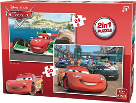 Disney Cars 2-in-1 Puzzle - 24, 50 stukjes