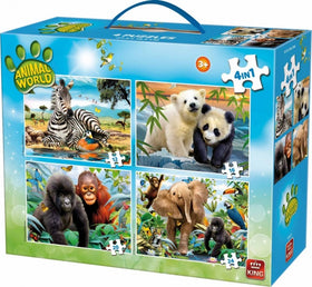 Puzzle 4-in-1 Animal World