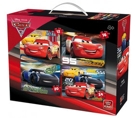 Disney Cars 3 4-in-1 Puzzle - 12, 16, 20, 24 stukjes
