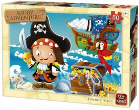 Kiddy Adventure Treasure Island Puzzle - 50 stukjes
