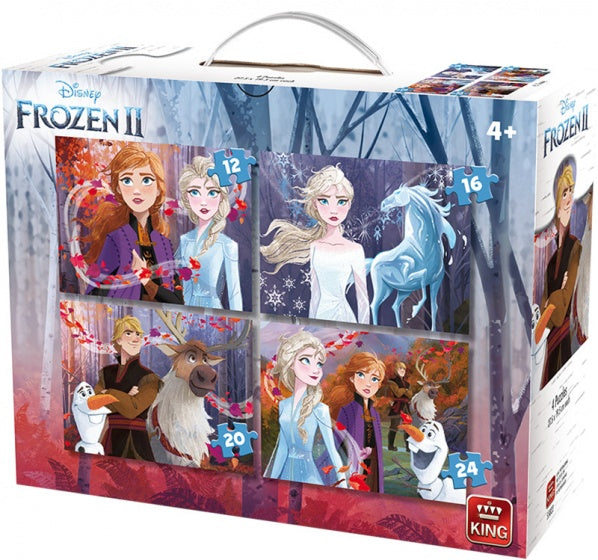 Legpuzzels Disney Frozen II 4-in-1 junior 12-24 stukjes