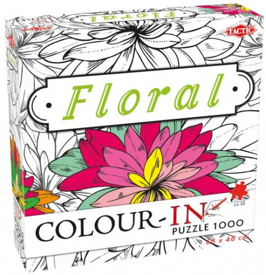 Colour-In Puzzle Floral - 1000 stukjes