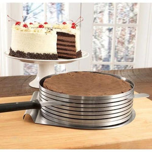 Adjustable Stainless Steel Cake Slicer - On-Time Delivery