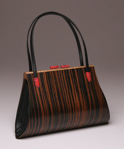 """Aristea"" Large Handbag-Double Strap - Macassar Ebony"