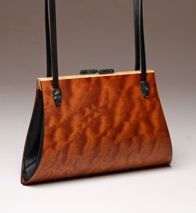 """Aristea"" Large Handbag-Double Strap - Quilted Sapele"