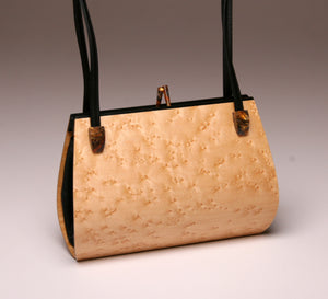 """Calliandra"" Medium Handbag-Double Strap - Birdseye Maple"