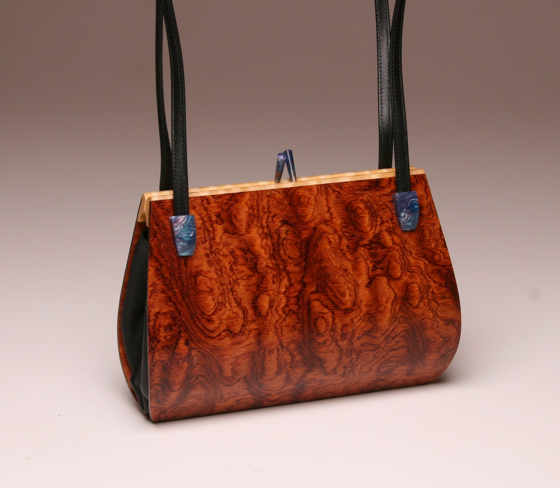 """Calliandra"" Medium Handbag-Double Strap - Bubinga"