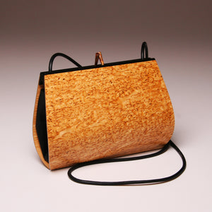 """Calliandra"" Medium Handbag - Single Strap - Karelian Birch Burl"