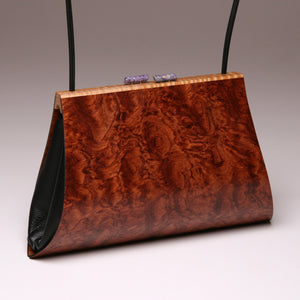 """Aristea"" Large Handbag-Single Strap - Pommele Bubinga"