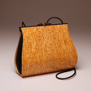 """Dianella"" Large Handbag-Single Strap - Book-Matched Karelian Birch Burl"