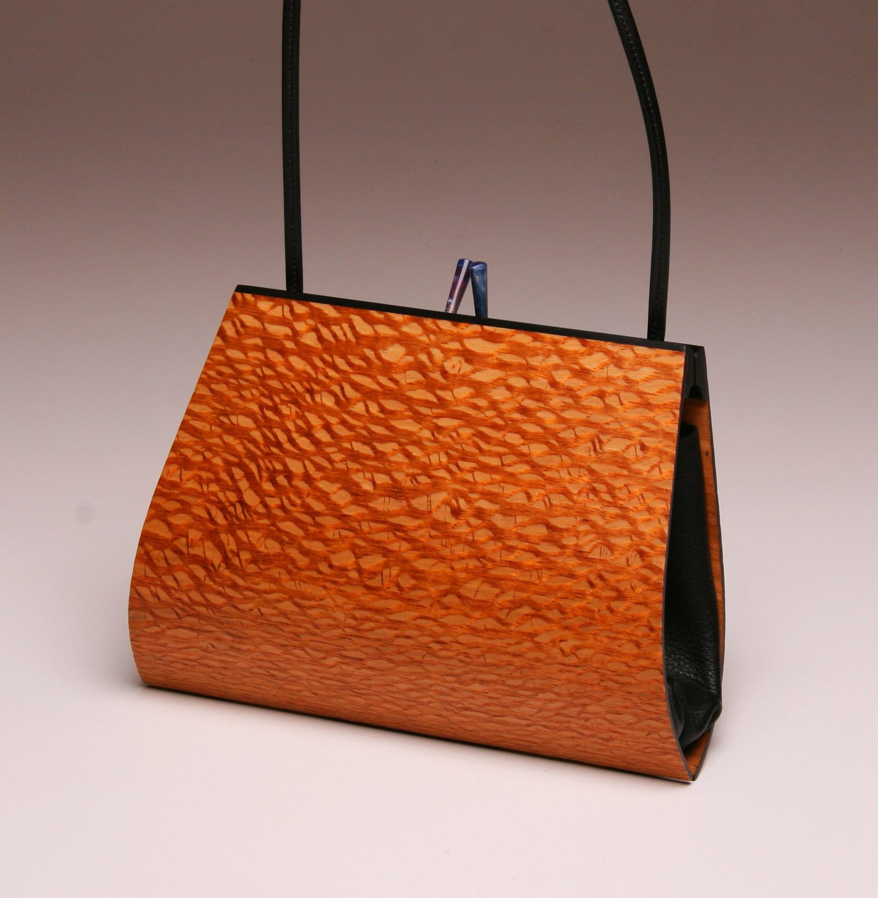 """Emilia"" Medium Handbag-Single Strap - Australian Lacewood"