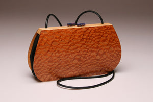 """Linaria"" Medium Wood Handbag - Single Strap - Lacewood"