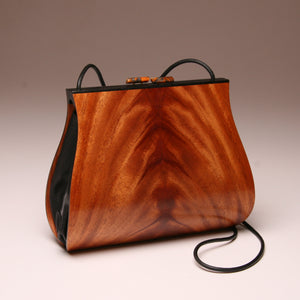 """Dianella"" Large Handbag-Single Strap - Book-Matched Mahogany Crotch"