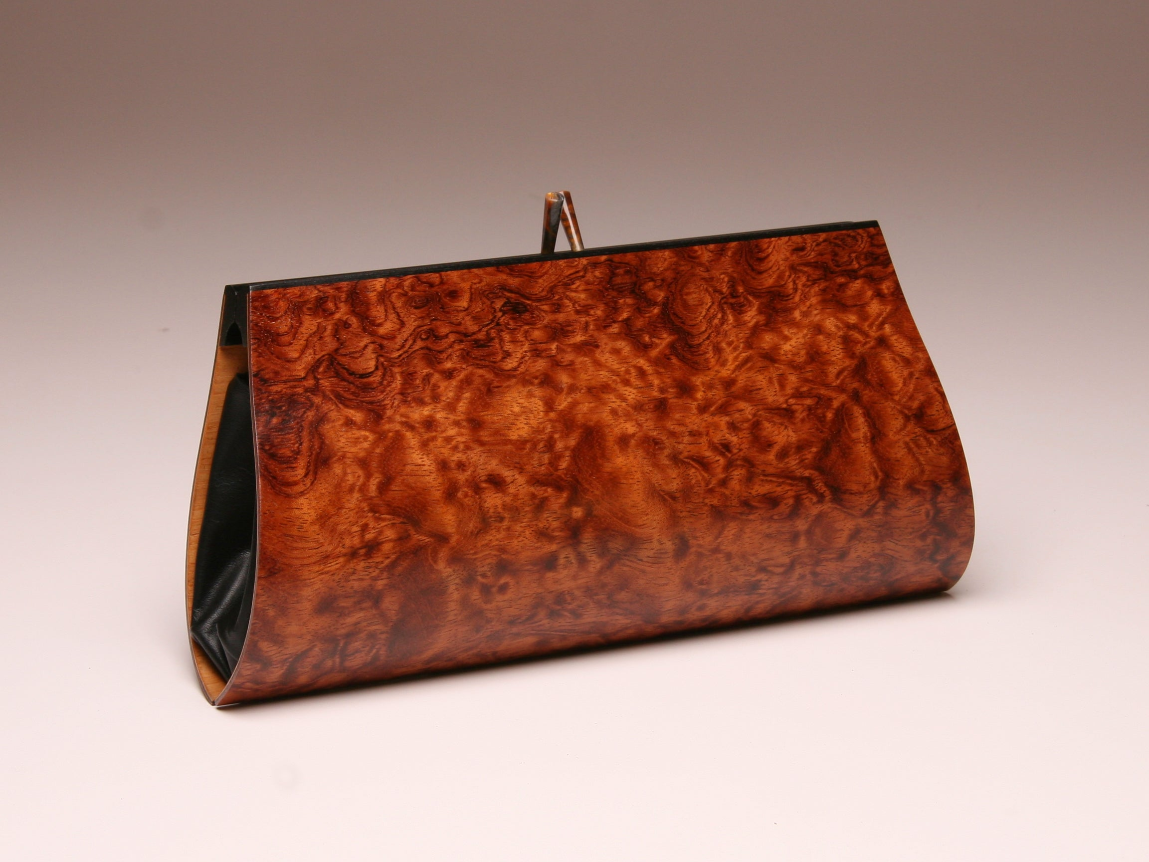 """Petrea"" Clutch - Bubinga and Black Obeche"