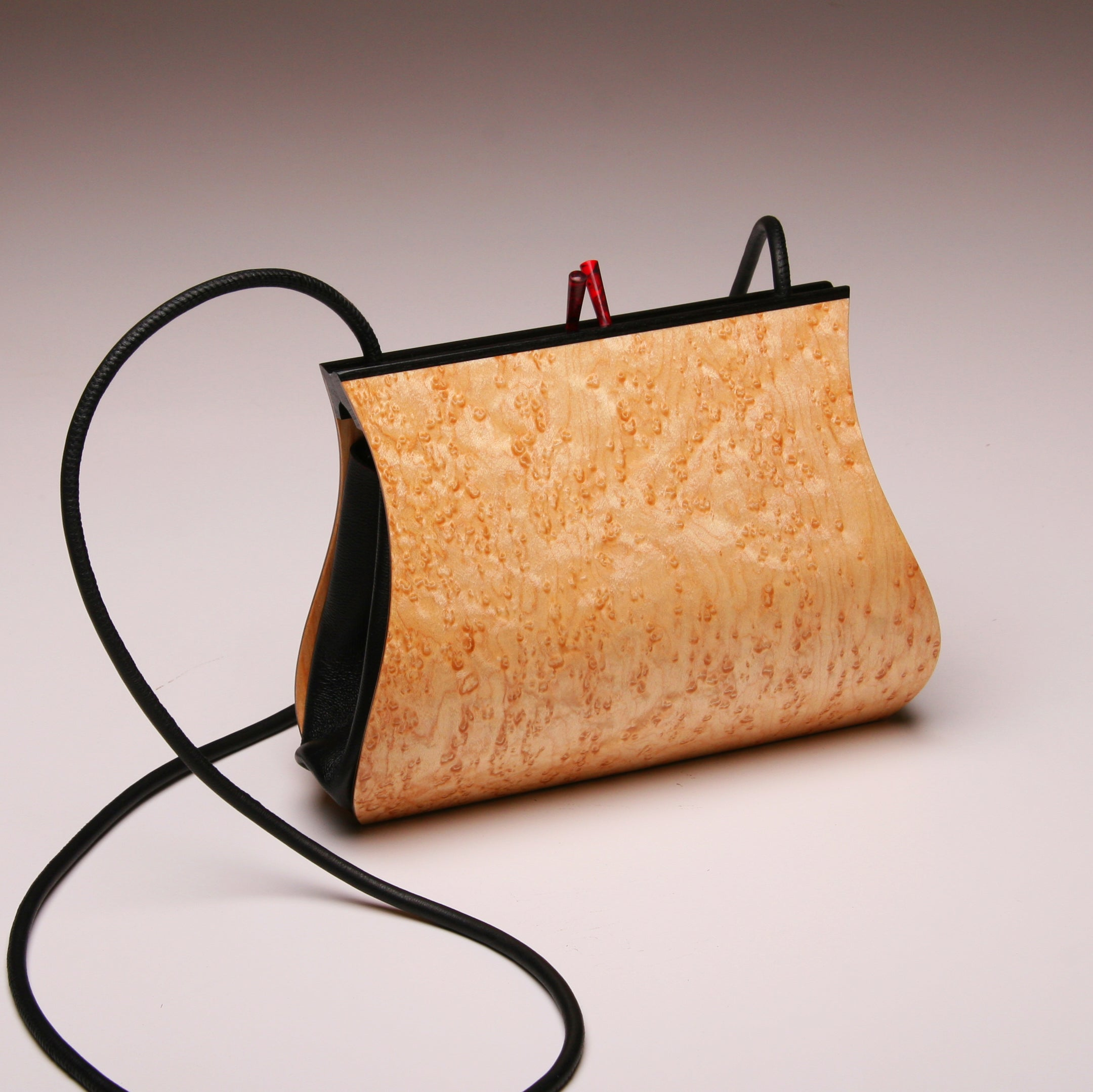 """Sativa"" Medium Handbag-Single Strap - Birdseye Maple"