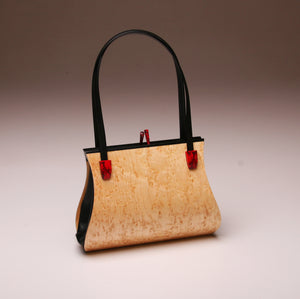 """Sativa"" Medium Handbag-Double Strap - Birdseye Maple"