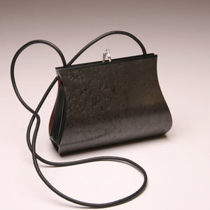 """Sativa"" Medium Handbag-Single Strap - Grey Dyed Birdseye Maple"