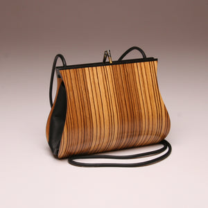"""Sativa"" Medium Handbag-Single Strap - Zebrawood"