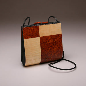 """Trillium"" Medium Handbag-Special Edition-Single Strap - Amboyna Burl"