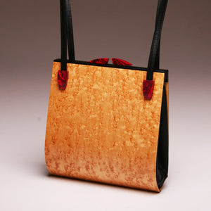 """Trillium"" Medium Handbag-Double Strap - Birdseye Maple"