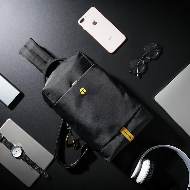 Tangcool New Male Chest Bag Fashion Leisure Waterproof Man Nylon shoulder bag Korea Style Crossbody Bag For Student Teenager Bag