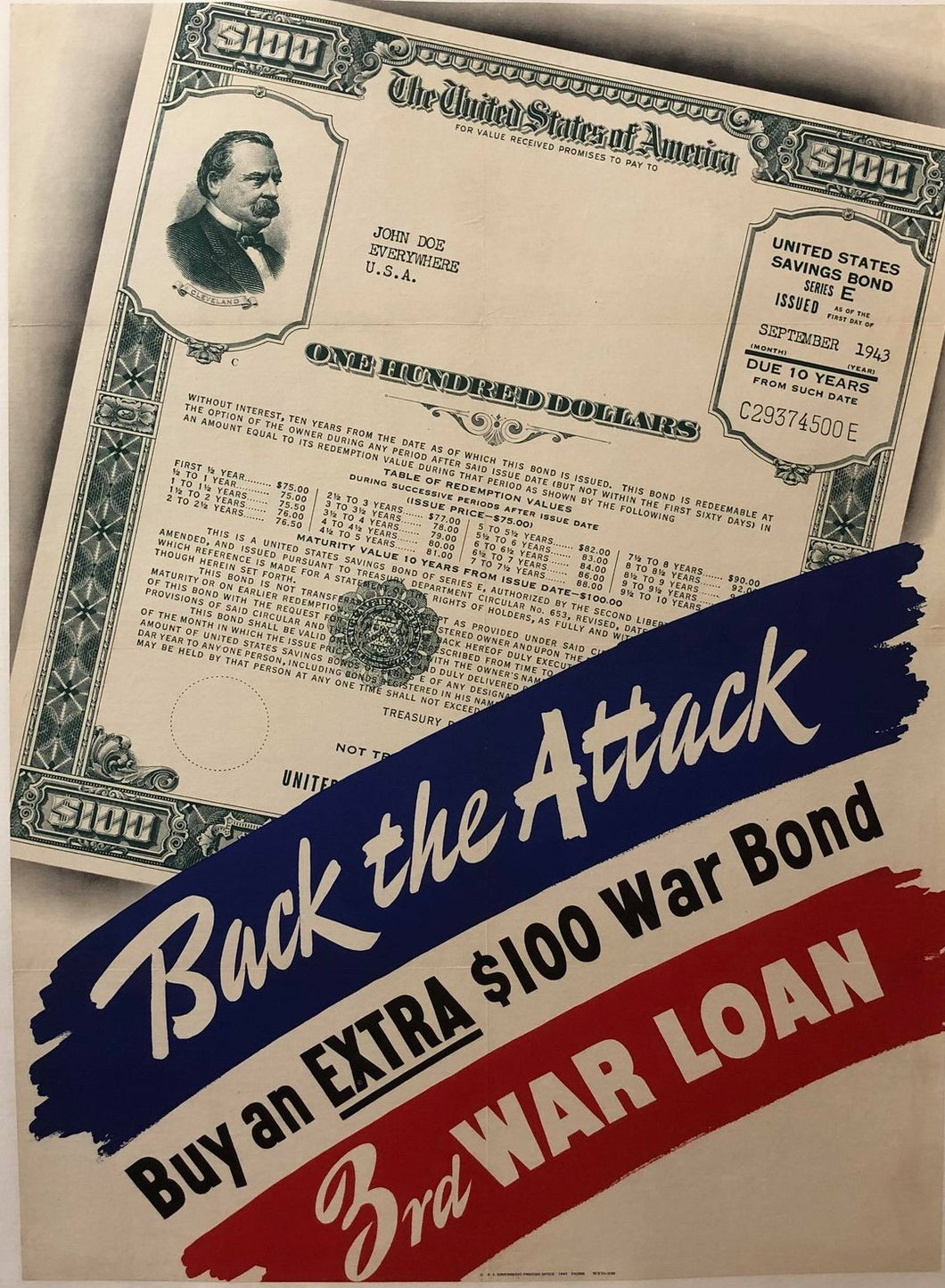 Back the Attack - 3rd War Loan