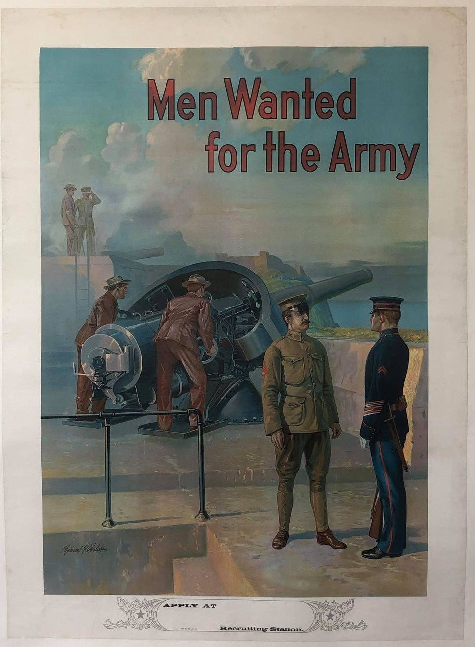 Men Wanted for the Army (artillery)