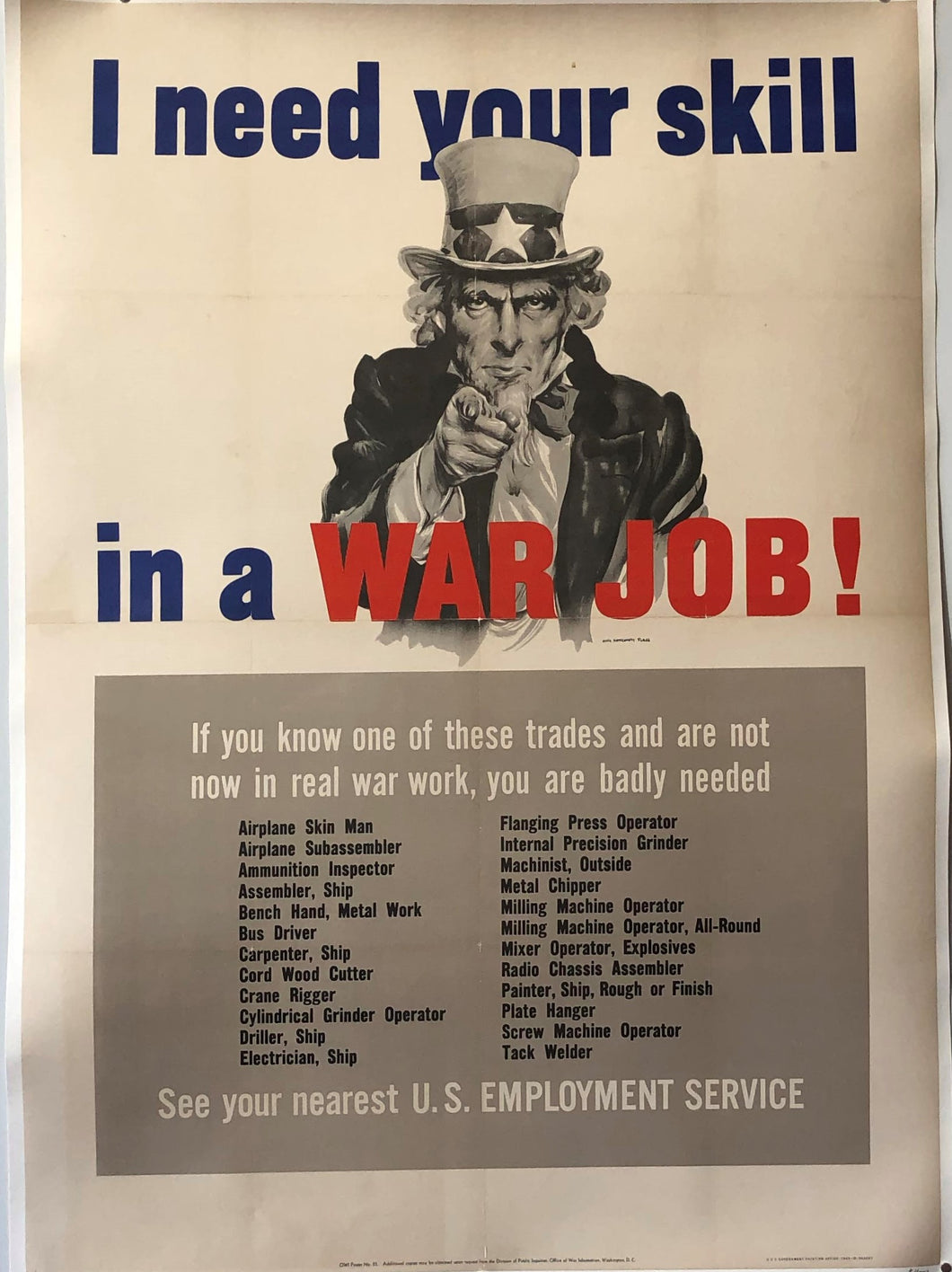 I Need Your Skill in a War Job!