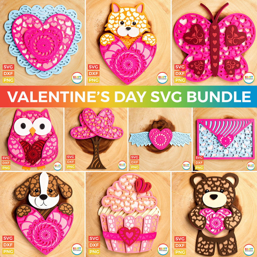 SVG BUNDLE: Valentine's Day Designs