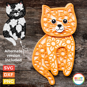 Cat Layered SVG | Layered Shorthaired Cat Cutting File