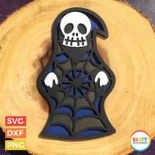 Load image into Gallery viewer, Grim Reaper SVG | Layered Grim Reaper Halloween Cutting File