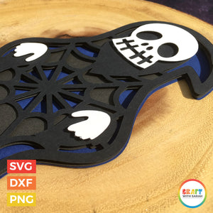 Grim Reaper SVG | Layered Grim Reaper Halloween Cutting File