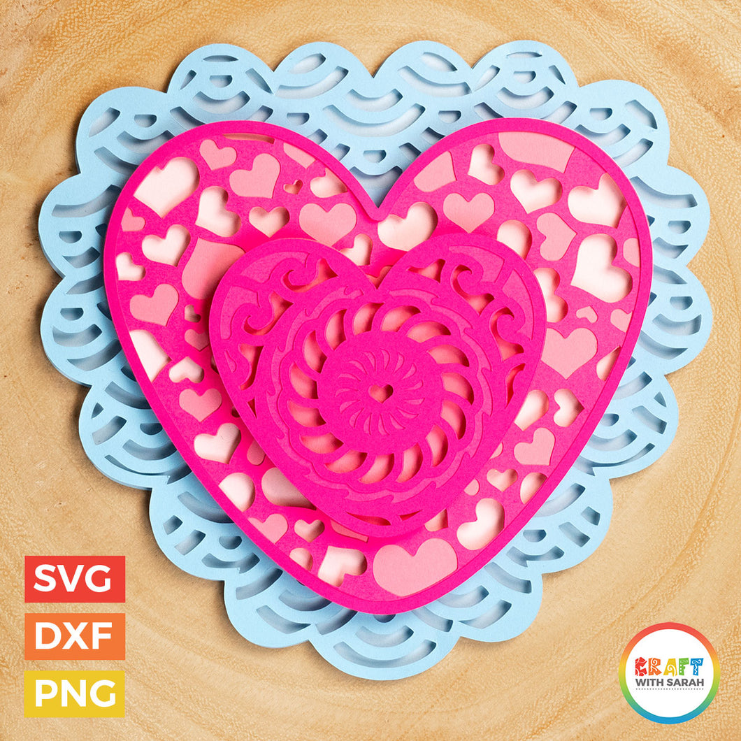 Valentine's Day Heart SVG | Layered Heart Cutting File