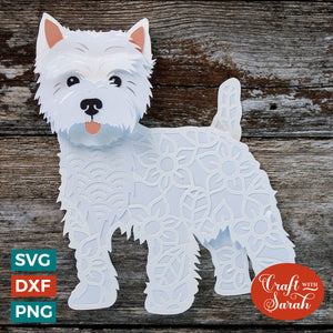 Westie SVG | Layered West Highland Terrier Cutting File