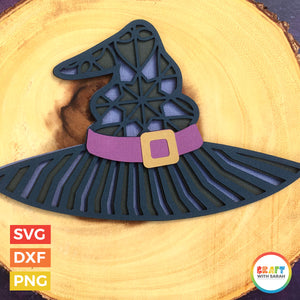 Witch Hat Layered SVG | Witch's Hat Halloween Cutting File