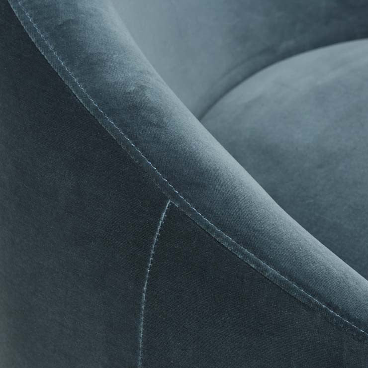 Kennedy Globe Chair, Blue Charcoal Velvet