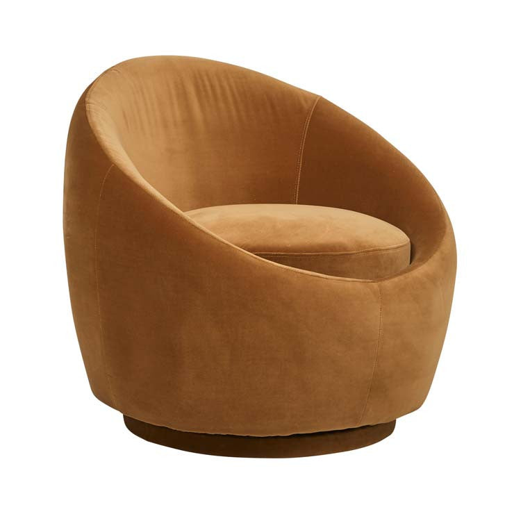 Kennedy Occasional Chair, Toffee Velvet
