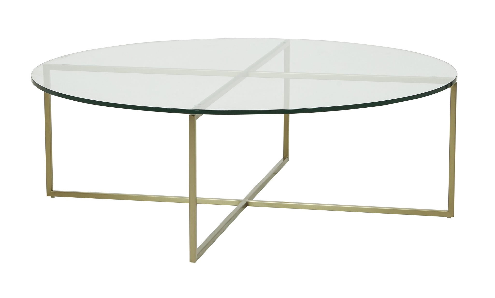 Elle Luxe Coffee Table Brushed Gold