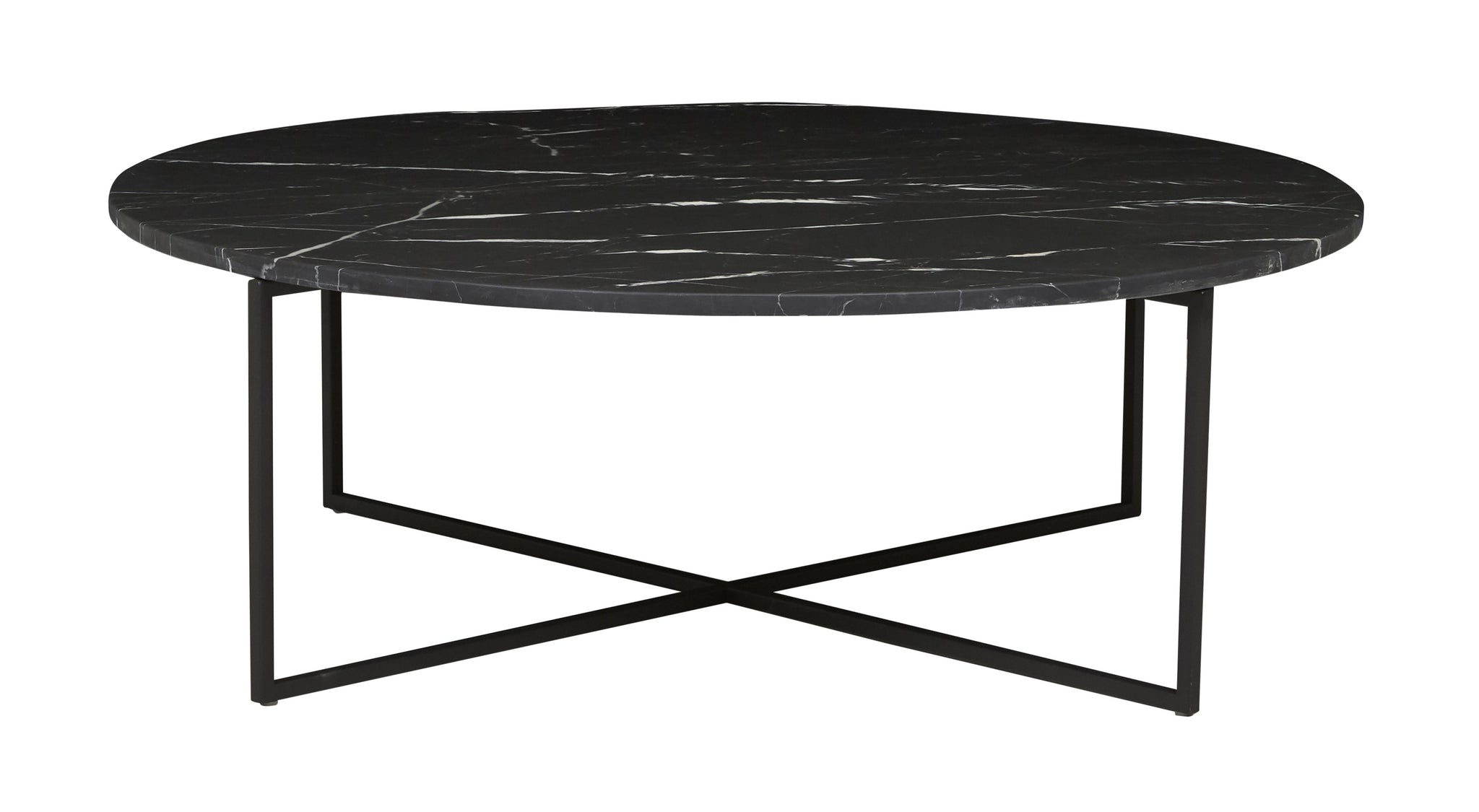 Elle Luxe Coffee Table Matt Black Marble/ Black