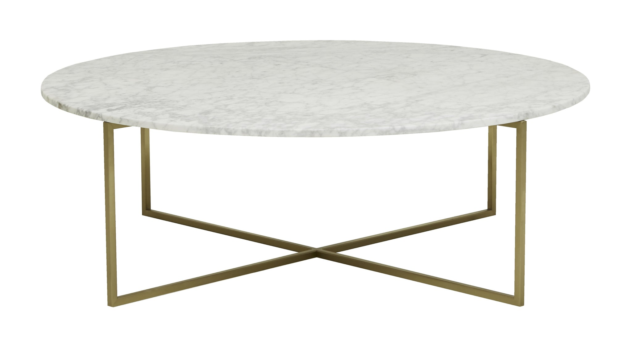 Elle Luxe Coffee Table Matt White Marble/ Brushed Gold