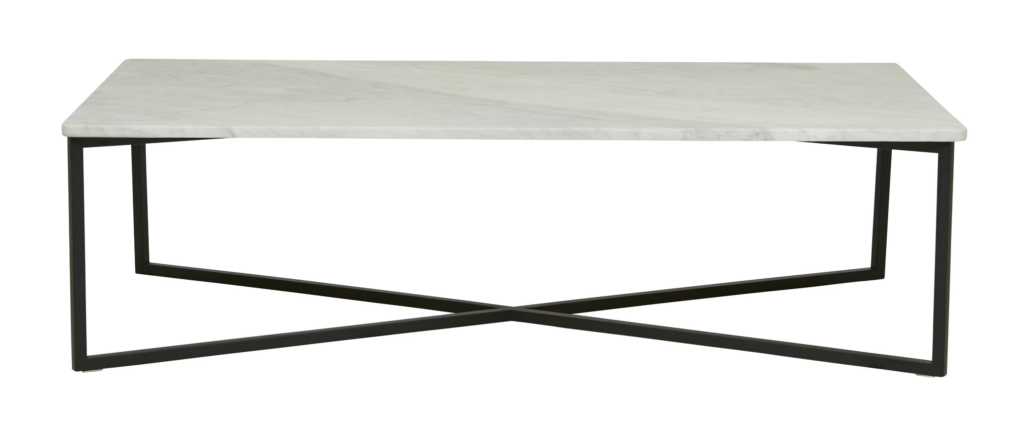 Elle Luxe Coffee Table Matt White Marble/ Black