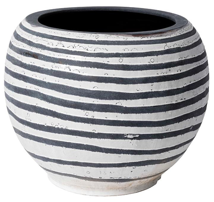 Horiz Striped Pot Large