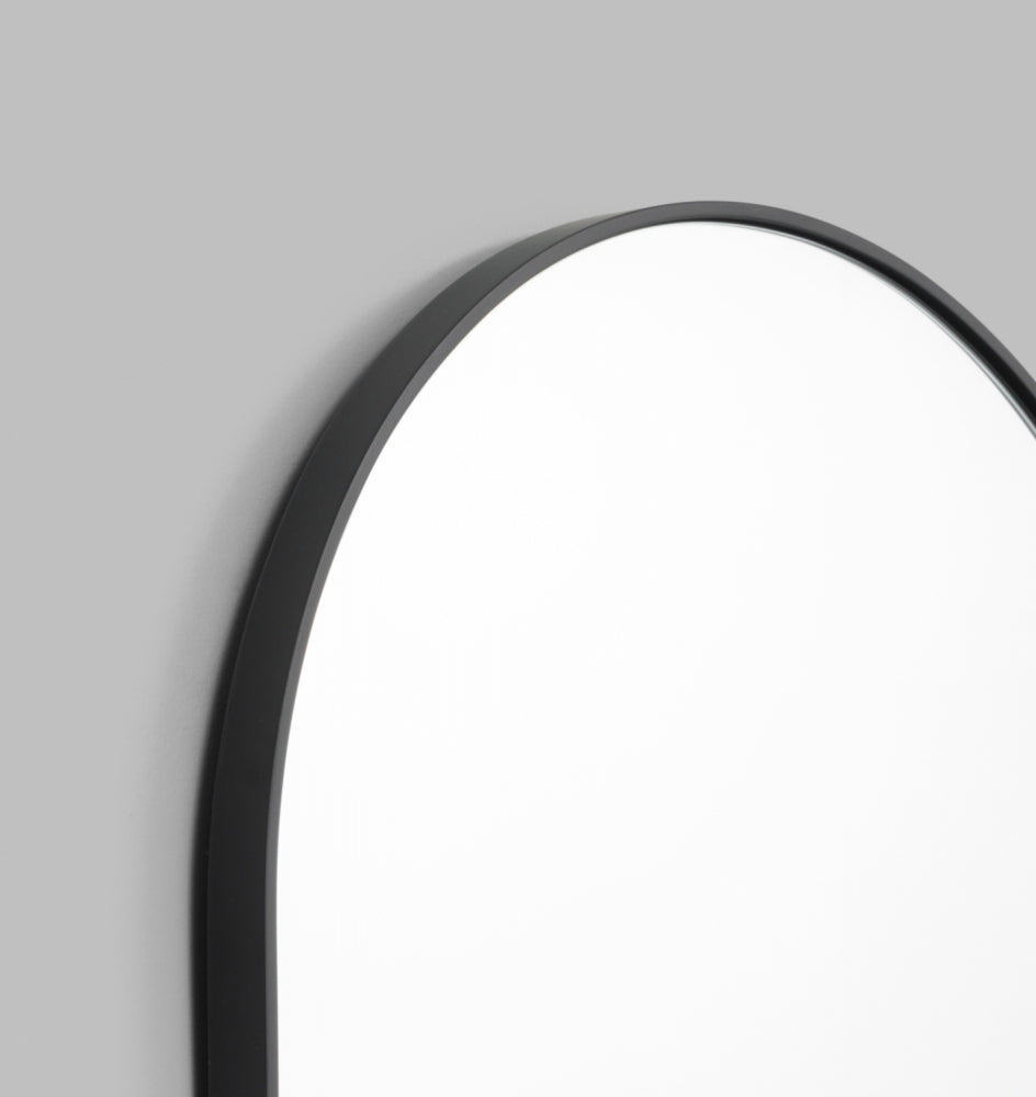 Bjorn Oval Mirror 65 x 100 Black