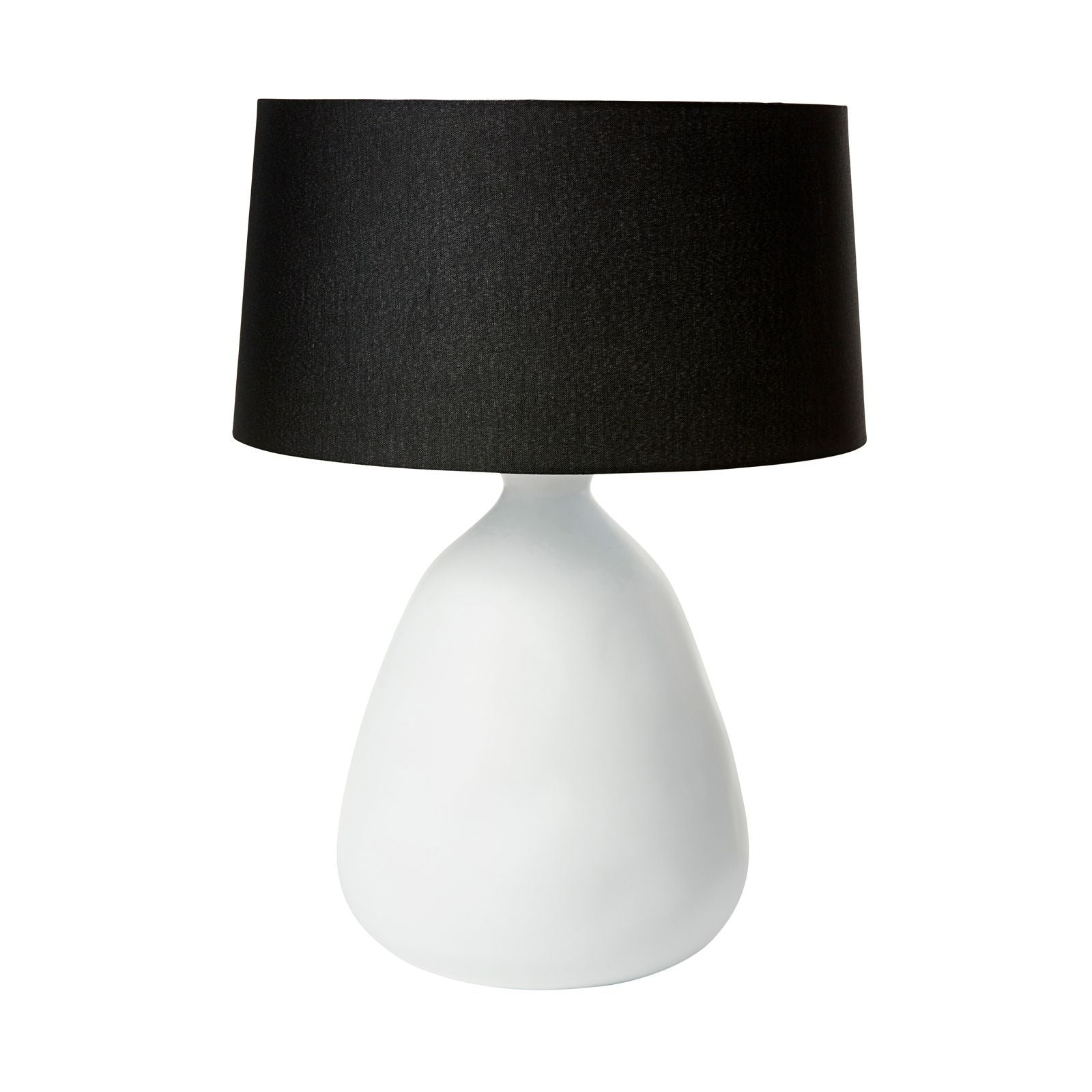 Organic Lamp with Black Shade