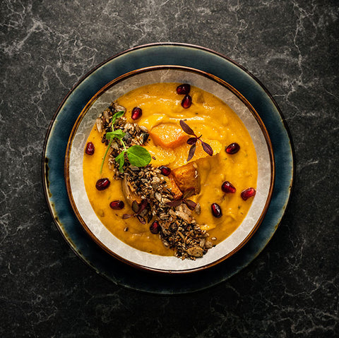 BUTTERNUT GINGER TURMERIC AND CITRUS SOUP
