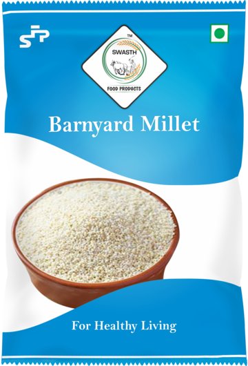 SWASTH Unpolished And Natural Barnyard Millet 05kg Pack of 5 - 1Kg Each (Other Names Of Barnyard Millet - Jhangora, Sanwa, Kuthiravali (Kuthiraivolly), Udalu, Kodisama, Oodalu, Kavadapullu, Swank, Shyama Khira Cereals)