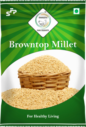 Swasth Unpolished and Natural Browntop Millet (Other Names of Brown Top Millet - Korale Cereals)