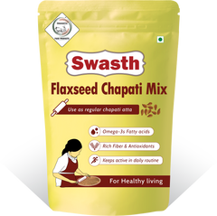 Swasth Flaxseed Chapati Mix-1Kg (Other Names of Flaxseed - Agase, Jawas or Alashi, Ali Vidai, Tishi or Pesi, Avise Ginzalu)